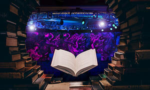 Book-floating-in-library-opens-to-event