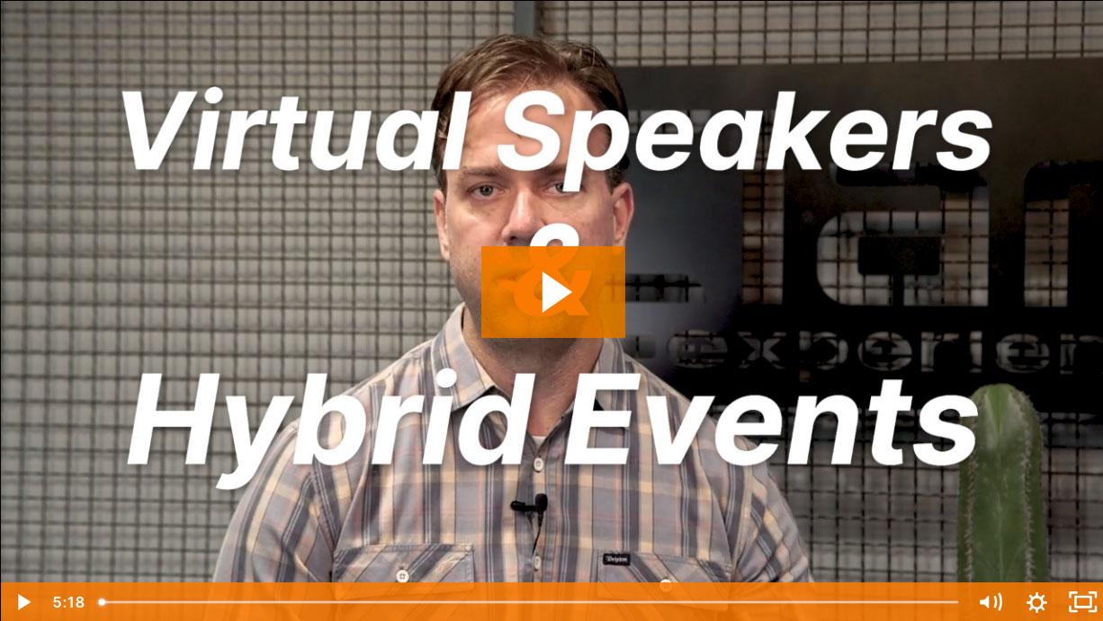 Virtual Speakers & Attendees in Hybrid Events
